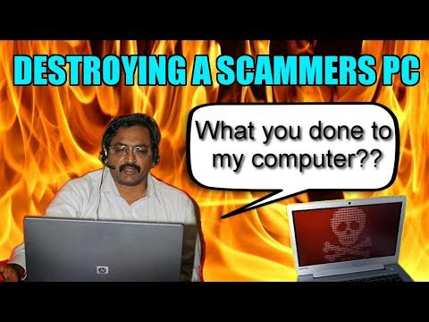 Destroying  Scammers Computer With Virus
