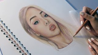 Lily Maymac Speed Drawing // Faber Castell Polychromos Coloured Pencils