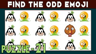 Find The Odd Emoji Out | Spot The Odd Emoji One Out If You Are A Genius | Find The Difference