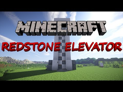 Minecraft how to make a redstone elevator with doors (1.12) No Mods (HD)