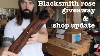 Blacksmith rose giveaway & shop update