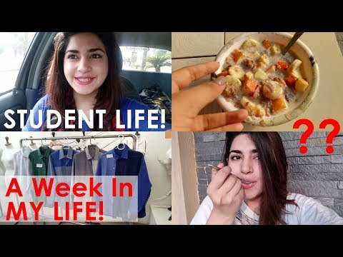 A Week In My Life | Student Life | What Do I Study & Eat? | Pakistani Vlogs | Glossips