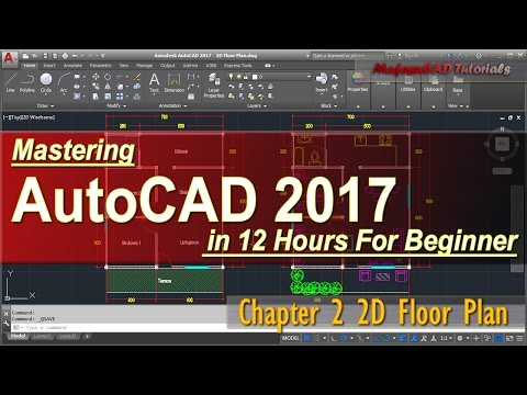 AutoCAD 2017 2D Floor Plan Tutorial For Beginner | Course Chapter 2