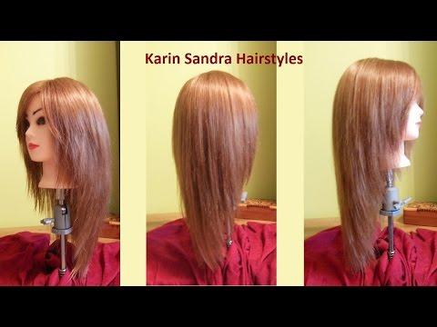 Long layered V Haircut tutorial | Haircut Face Framing layers | Long haircut with layers