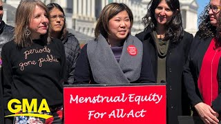 Congresswoman called 'period lady' wants all woman to have access to hygiene products