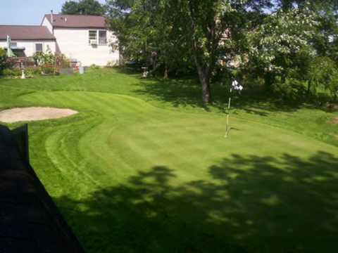 Some of the best backyard putting greens