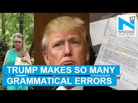 Teacher corrects grammatical errors on Trump's letter