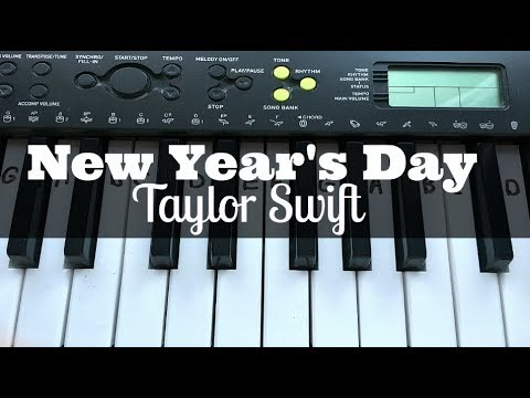 New Year's Day - Taylor Swift | Easy Keyboard Tutorial With Notes (Right Hand)