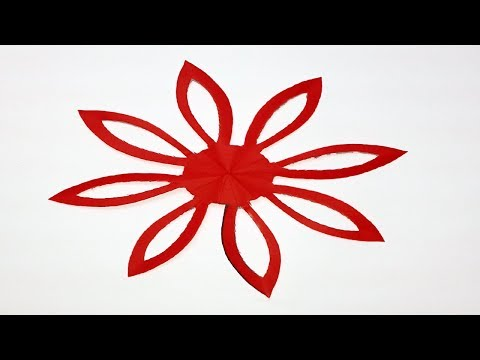 How to make Easy&Simple paper cutting Flower?Paper cutting designs patterns step by step-Paper Craft
