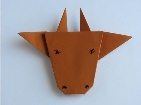 How To Make An Origami Bull Face