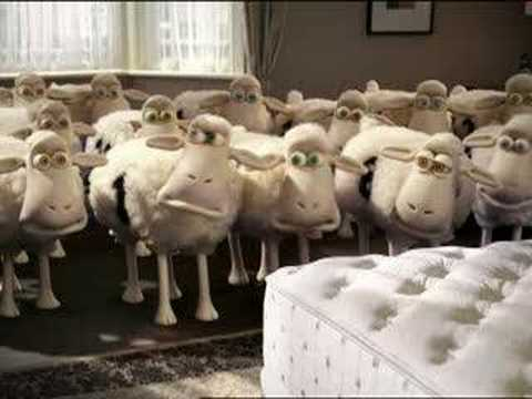 Serta Sheep -- Delivery Man TV ad NEW