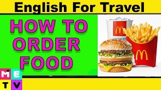How to Order Food in English