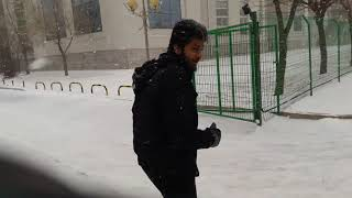 My first snowfall experience in shenyang