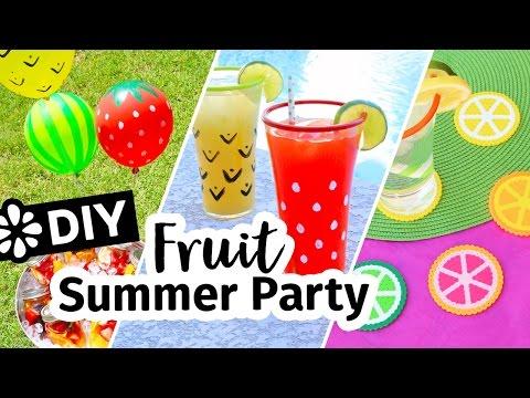 DIY Fruit Theme Summer Backyard Party   Sea Lemon