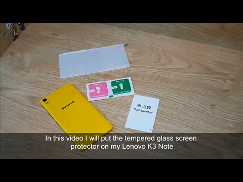 How to put tempered glass screen protector on smart phone - Lenovo K3 Note lemon