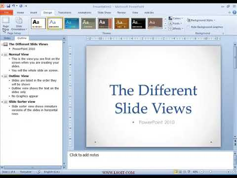 Print in Outline View  Power Point Video Tutorials in Hindi  - WWW.LSOIT.COM