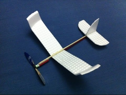 How to make a foam rubber band powered plane| Build a simple rubber band powered plane