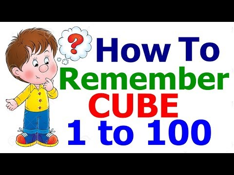 How to Remember CUBE upto 100 Short Trick