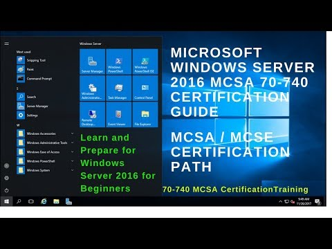 70-740 MCSA Certification Exam - Microsoft Certification Guide Windows Server 2016 - Cert Exam Prep