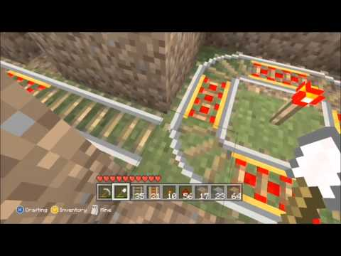 How to Make an Auto Dispensing Minecart System on MineCraft: Xbox 360 Edition