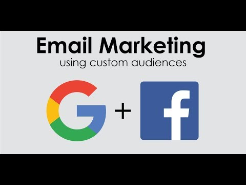 Email marketing with Facebook and Google