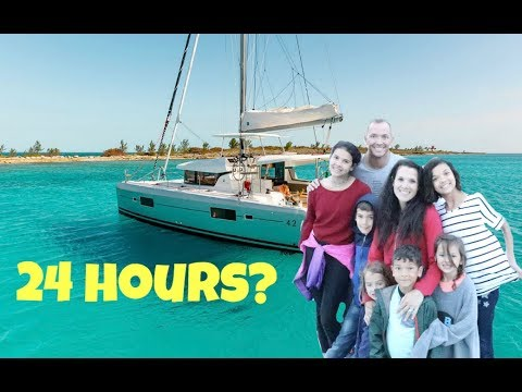 24 HOURS OVERNIGHT ON A BOAT! Living on the OCEAN!