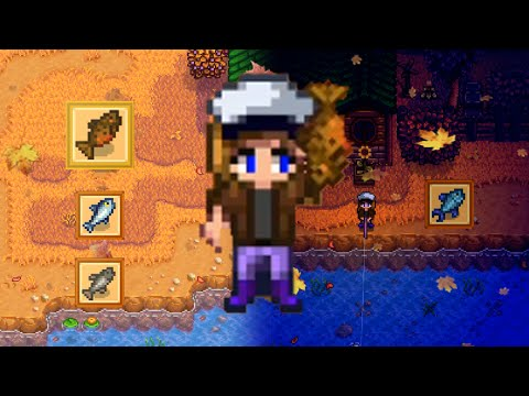 FALL RIVER FISHING Stardew Valley [All day and all night]