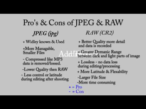 Canon EOS 500D/T1i/KissX3 Tutorial Video 14 - JPG or RAW ?