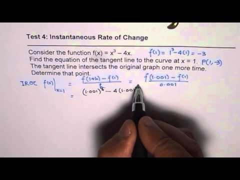 Find Equation of Tangent to Cubic Polynomial and Find Another Point Where it Intersects Graph