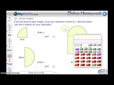 MyMaths - Area of a Circle L6