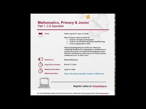 Primary & Junior Math AQ