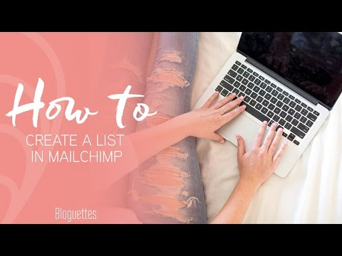 How To Create A List In MailChimp!