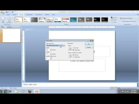How to Change PowerPoint 2007 Aspect Ratio