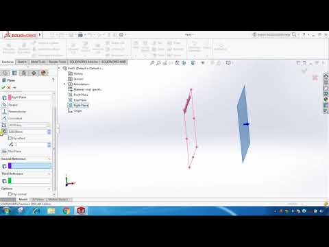 Solidworks Tutorial # 30 Creating reference planes in SolidWorks