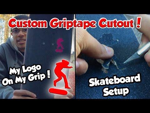 CUSTOM GRIPTAPE CUTOUT! | Board Setup (With Skate Clips)