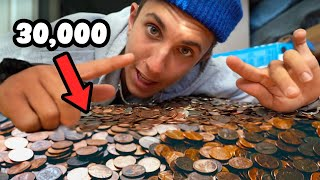 Making Giant Art with Pennies!! ( 30,000 )