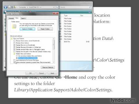 PHOTOSHOP Installing the CS4 color settings