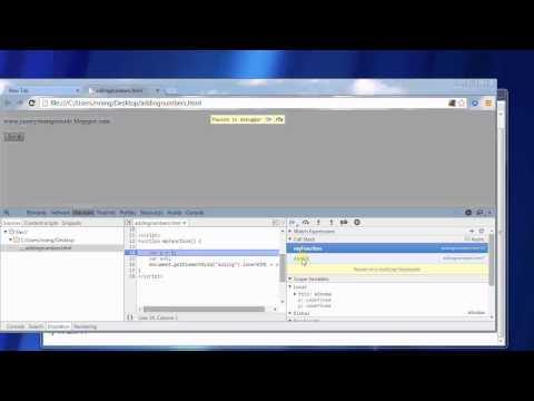 How to debug javascript program in Google Chrome