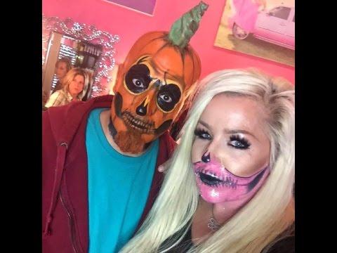 Halloween Makeup Tutorial Pumpkin Skeleton