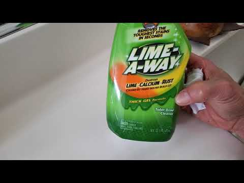 Can $0.99 Cent Lime Away Thick Gel Gets Rust Stain Lime Calcium Out? 5 22 18