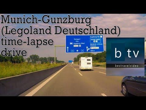 Munich-Gunzburg (Legoland Deutschland) time-lapse drive.
