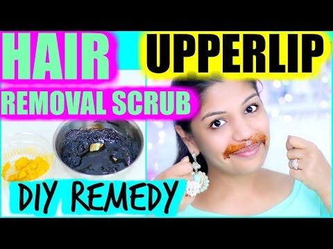 5 Minutes Hair Removal | Upperlip Sugar Lemon Scrub | SuperPrincessjo