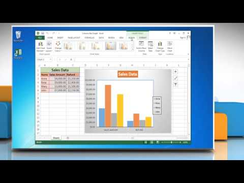 How to show and hide Gridlines in Column (Vertical Bar) Graphs in Excel 2013