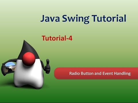 How to create radio button in java and handle event using Swing