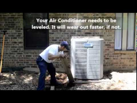 Leveling of an Air Conditioning Condenser