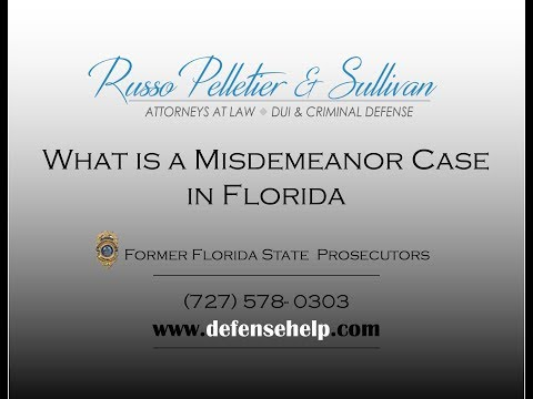 What is a Misdemeanor in Florida?