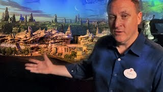 INTERVIEW: Star Wars Land model tour w/ Imagineer Scott Trowbridge at D23 Expo 2017 - Galaxy