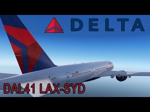 Prepar3d v3.4 Delta Airlines 41 Los Angeles - Sydney