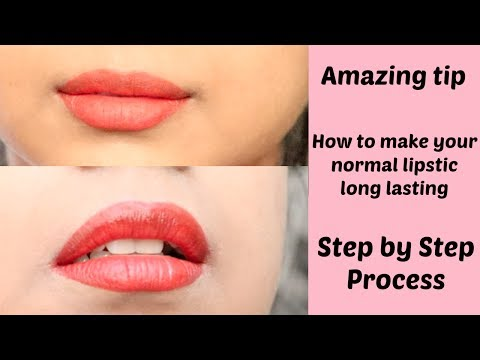 How to make your Lipstick last || Tips For Long lasting || Makeup Tutorial