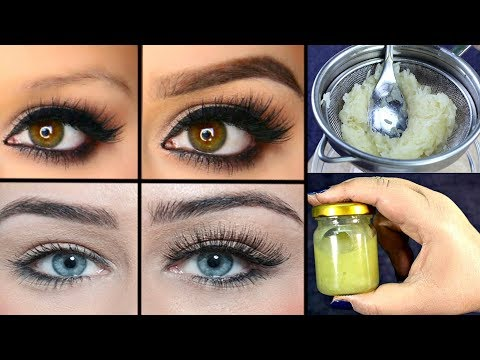 DIY Miracle Serum To Grow Thicker Eyebrows & Eyelashes In 3 Days - Grow Eyebrows Fast